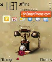 Retro telephone (Q1) theme screenshot