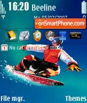 Snowboard es el tema de pantalla