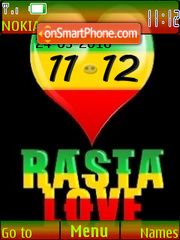 Rasta Love Clock es el tema de pantalla