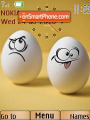 Funny Egg Clock es el tema de pantalla