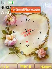 Flower Heart Clock es el tema de pantalla