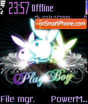 Playboy Crystal theme screenshot