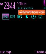 Neon hand v2 es el tema de pantalla