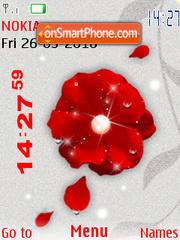 Animated redflower theme screenshot