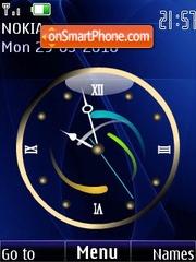 Analog blue clock animated theme screenshot