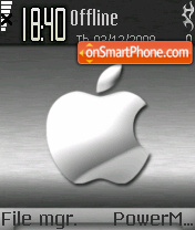Silver Apple 01 theme screenshot