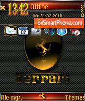 Ferrari QVGA 01 es el tema de pantalla
