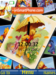 Скриншот темы Pooh Clock