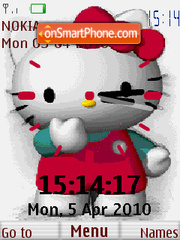 Hello Kitty Clock theme screenshot