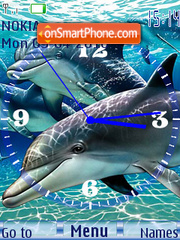 Dolphin Clock theme screenshot