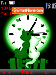 Cat Love Clock theme screenshot