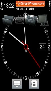 Clock Black theme screenshot