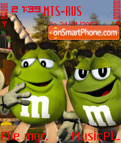 M and Ms and Shrek 2 theme screenshot