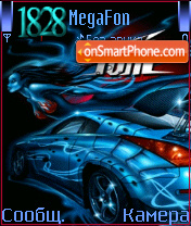 Animated BLUE car hyper tune es el tema de pantalla