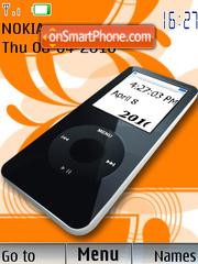 Ipod_Black_Clock es el tema de pantalla