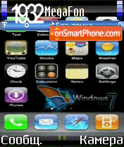 Animated iphone seven es el tema de pantalla
