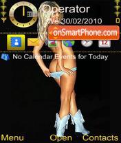 Sexy blonde es el tema de pantalla