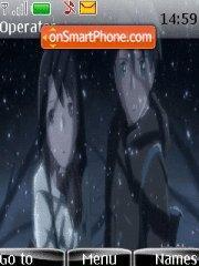 Byousoku 5 Centimeter theme screenshot