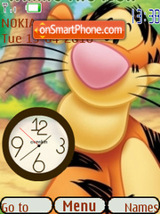 Tigger Clock theme screenshot
