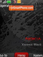 Red-nokia xm theme screenshot