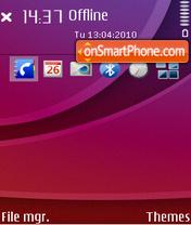 Magic of violet theme screenshot