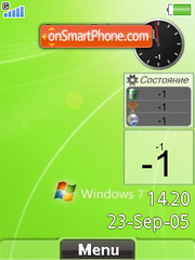 Windows Seven Flash theme screenshot
