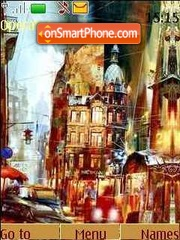 City streets theme screenshot