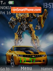 Transformers SWF theme screenshot