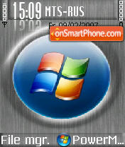 Grey Vista es el tema de pantalla