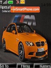 Orange BMW M3 theme screenshot