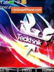 Tecktonik 03 tema screenshot