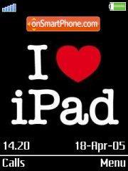 I Luv Ipad es el tema de pantalla