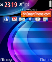 Blue wave 02 es el tema de pantalla