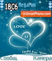 Blue Love es el tema de pantalla