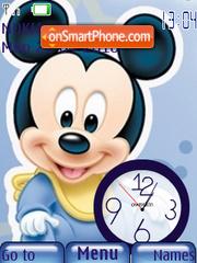 Baby Mickey Clock es el tema de pantalla