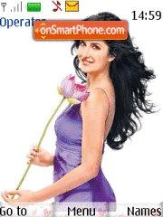 Purple Katrina Kaif theme screenshot