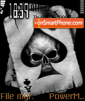 Skull And Ace theme screenshot