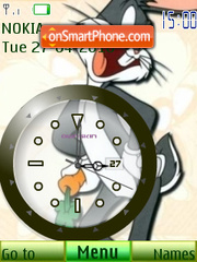 Bugs Bunny Clock theme screenshot