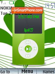 Ipod Clock theme screenshot