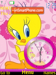 Tweety Clock theme screenshot