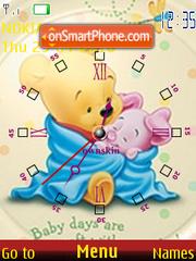 Baby Pooh Clock theme screenshot