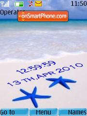 Playa clock theme screenshot
