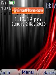 Black and Red Xp SWF Clock theme screenshot