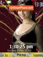 Deepika Black SWF Clock theme screenshot