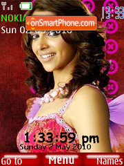 Deepika Red SWF Clock theme screenshot