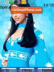 Deepika Sky Blue theme screenshot