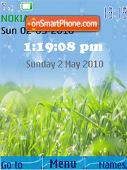 Grass Vista Xp SWF Clock theme screenshot
