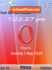 Opera Browser 2010 SWF Clock theme screenshot