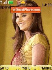 Sania Mirza B theme screenshot