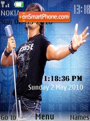 Sonu Nigam SWF Clock theme screenshot